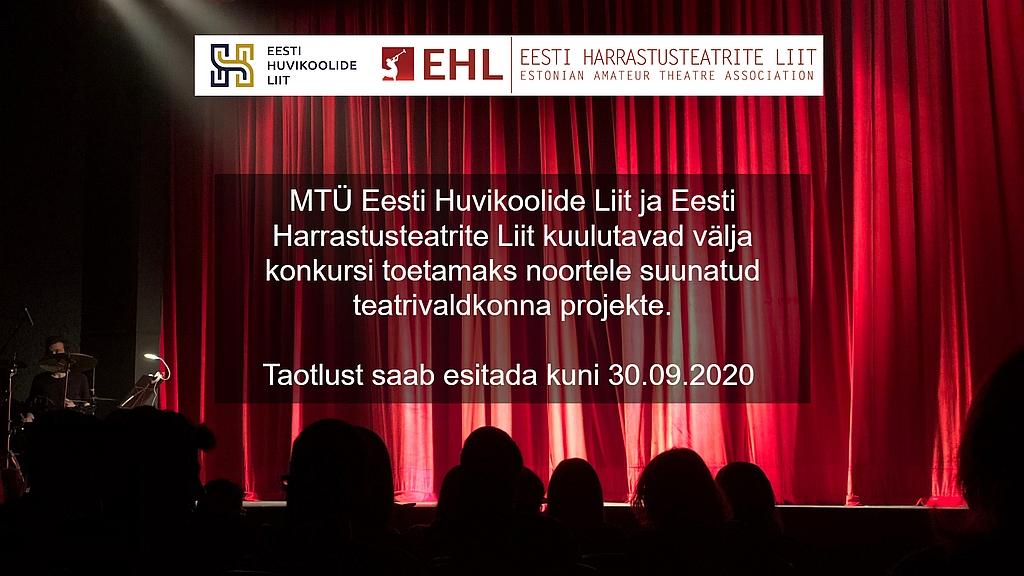 konkursi toetamaks noortele suunatud teatrivaldkonna projekte 2