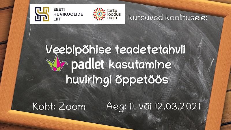 Veebipõhise teadetetahvli Padleti kasutamine huviringi õppetöös 2021 800