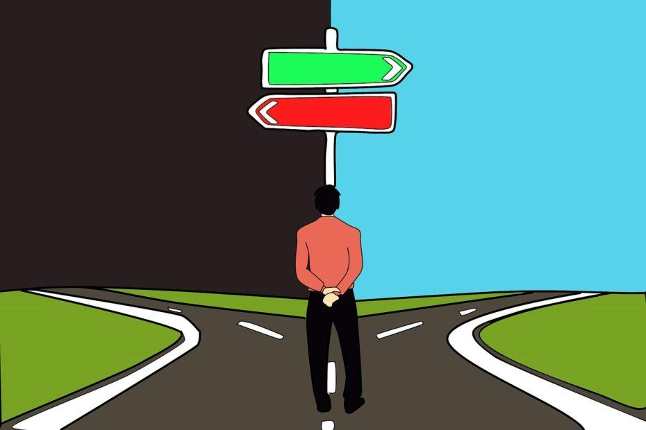 decision, choice, path