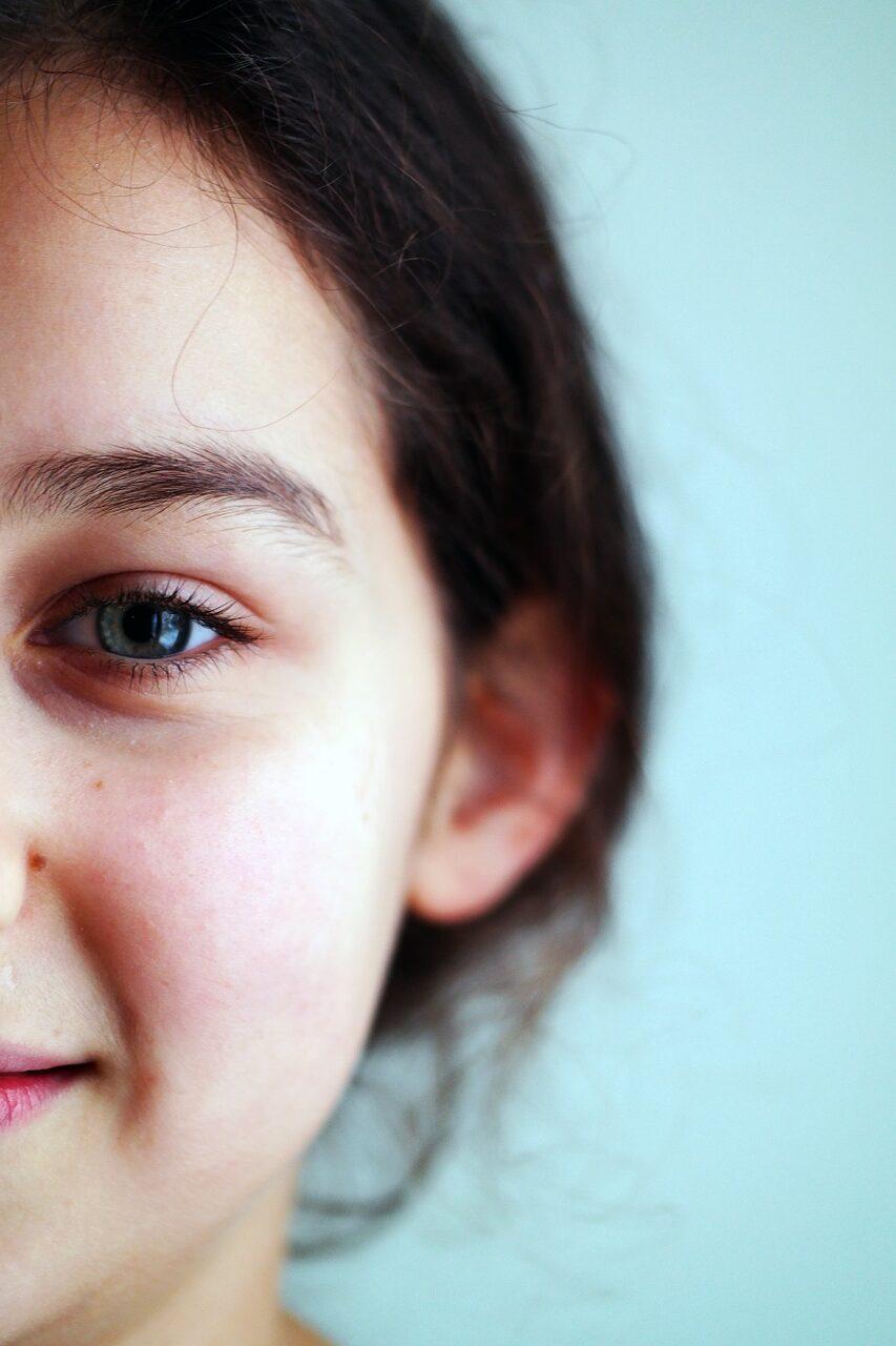 girl, kid, facial